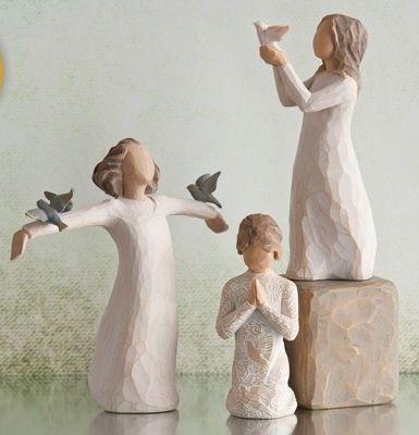 Willow Tree figurines .