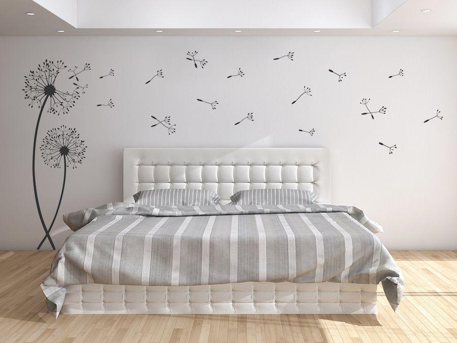 wandtattoo pusteblume kreative dekoration coole ideen wandtatoo schlafzimmer sei einzigartig wandgestaltung