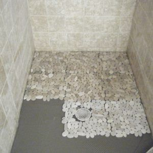 Exceptionnel 548 Best Bathroom Pebble Tile And Stone Tile Ideas Images On In Proportions  736 X 1322 Pebble Stone Shower Floor Pictures   Sealing Grouts Is A  Substantial