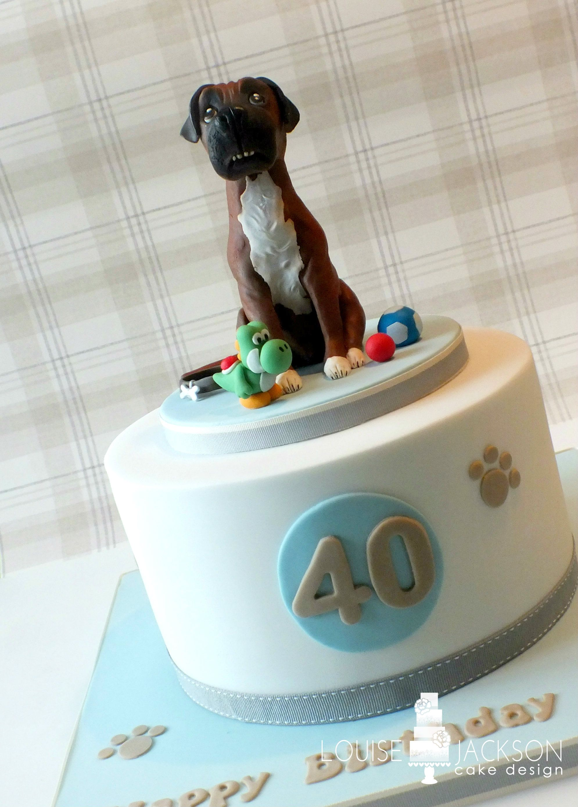 Incredible Boxer Dog Birthday Cake Dog Birthday Cake Dog Birthday Cake Personalised Birthday Cards Paralily Jamesorg
