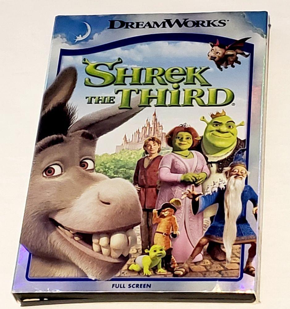 Shrek The Third Dvd 2007 Full Screen Version Pg Dreamworks 1hr 30 Min Shrek Dreamworks Full Screen