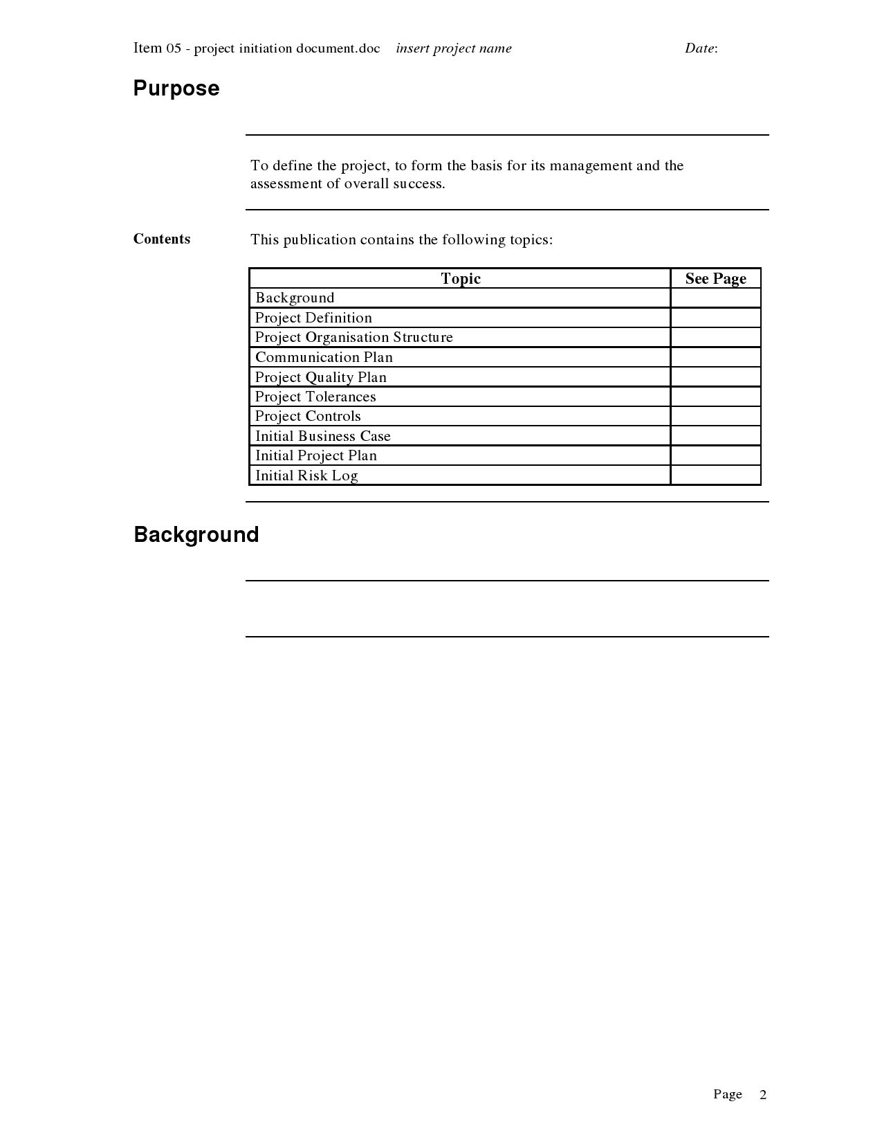Project Initiation template | Project Approach | Pinterest | Template