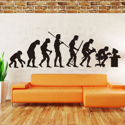 150cm Theory Evolution Gamer Programmer Vinyl Pc Wall Decor Decal Sticker Gift Wall Decor Decals Gift Stickers Wall Decor