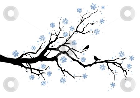 Free Coloring Pages Tree Limb Winter Tree Branch Stock Vector