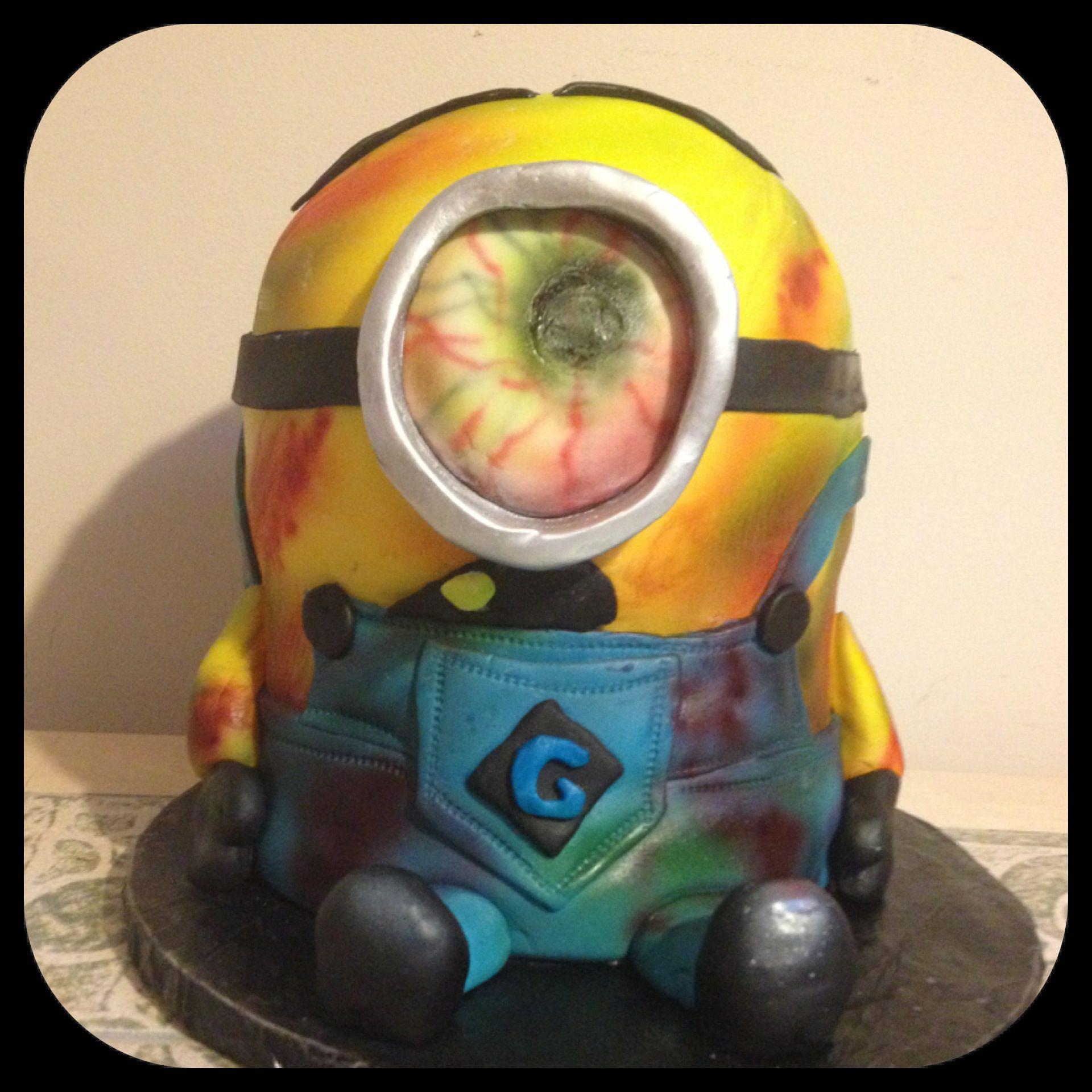 Minion Zombie Birthday Cake Delicia Cakes Pinterest Birthday