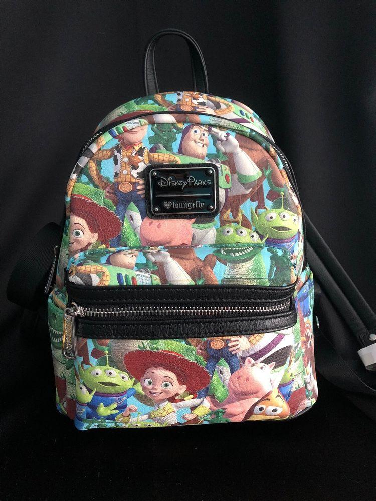 80a64c01002 New Disney Parks Toy Story Mini Backpack Loungefly Jessie Woody Buzz Ham  Slinky  Disneyana  Disney  WaltDisney
