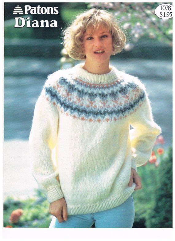 Vintage Patons Diana Knitting Pattern   Knitting patterns free ...