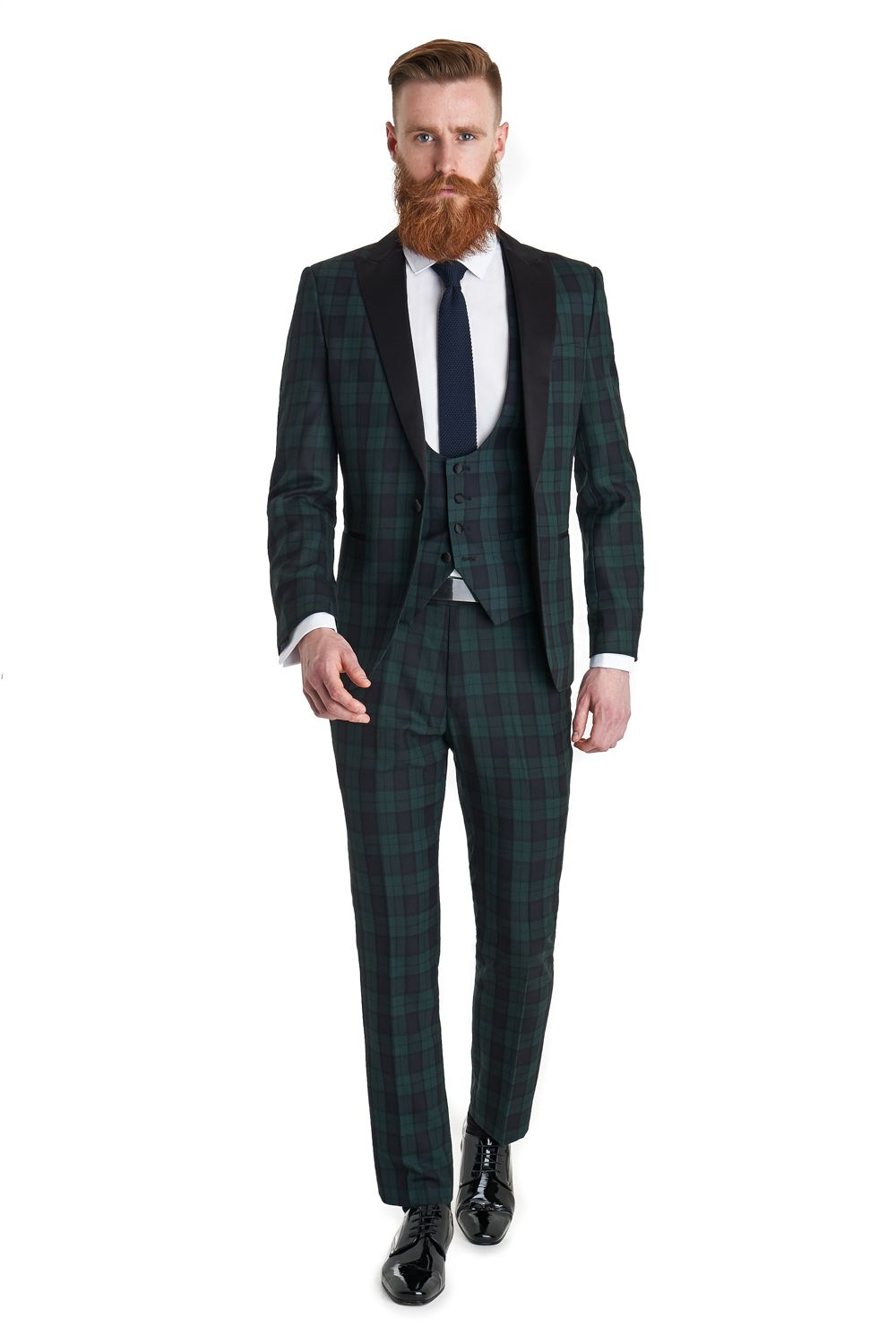 Ventuno 21 2 piece Slim Fit Green Tartan Dress Suit | I Know What ...