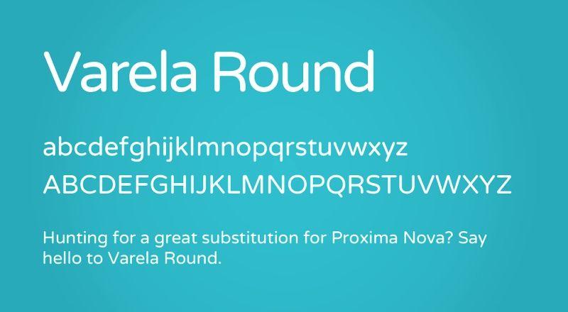 Varela Round Free Font | Fonts/Typography | Round font, Free