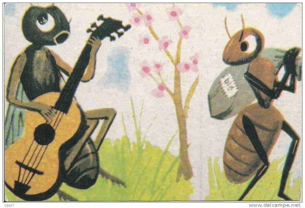 La cigale et la fourmi alex pinterest fables de la - Illustration la cigale et la fourmi ...