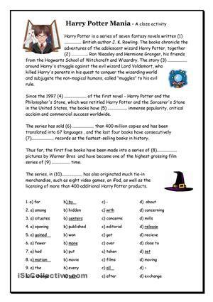 Harry Potter Mania Cloze | Clozes | Pinterest