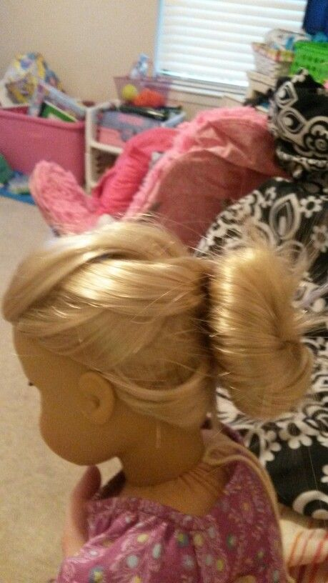 Messy Braid into a Bun  AG Doll