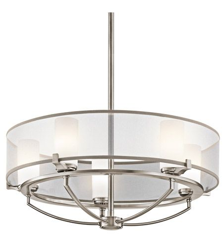 Kichler 42921CLP Saldana 5 Light 24 inch Classic Pewter Chandelier Ceiling Light photo