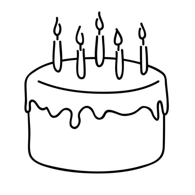 20 Pretty Image Of How To Draw A Birthday Cake How To Draw A Birthday Cake Simple Birthda Birthday Cake With Candles Birthday Cake Illustration Cake Drawing