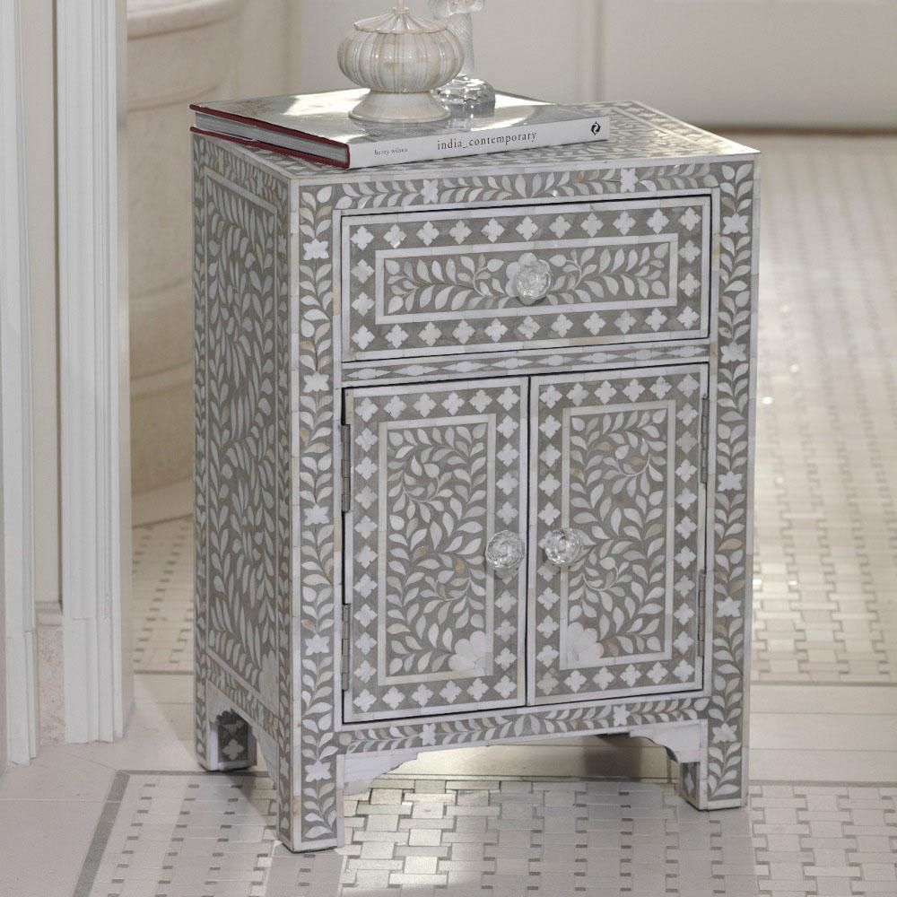 Mother Of Pearl Mosaic Nightstand Im Obsessed