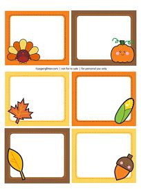 Free Printable, Party Printable, Kawaii, Paper Crafts, Kids Crafts, Stationery, Printable: Free Printable Thanksgiving Labels Downloads