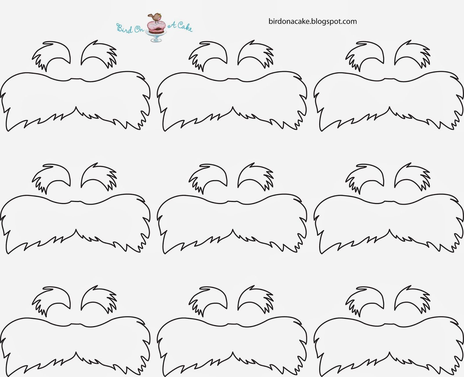 image about Lorax Mustache Printable identify lorax mustache template straws Up coming, soften the yellow sweet