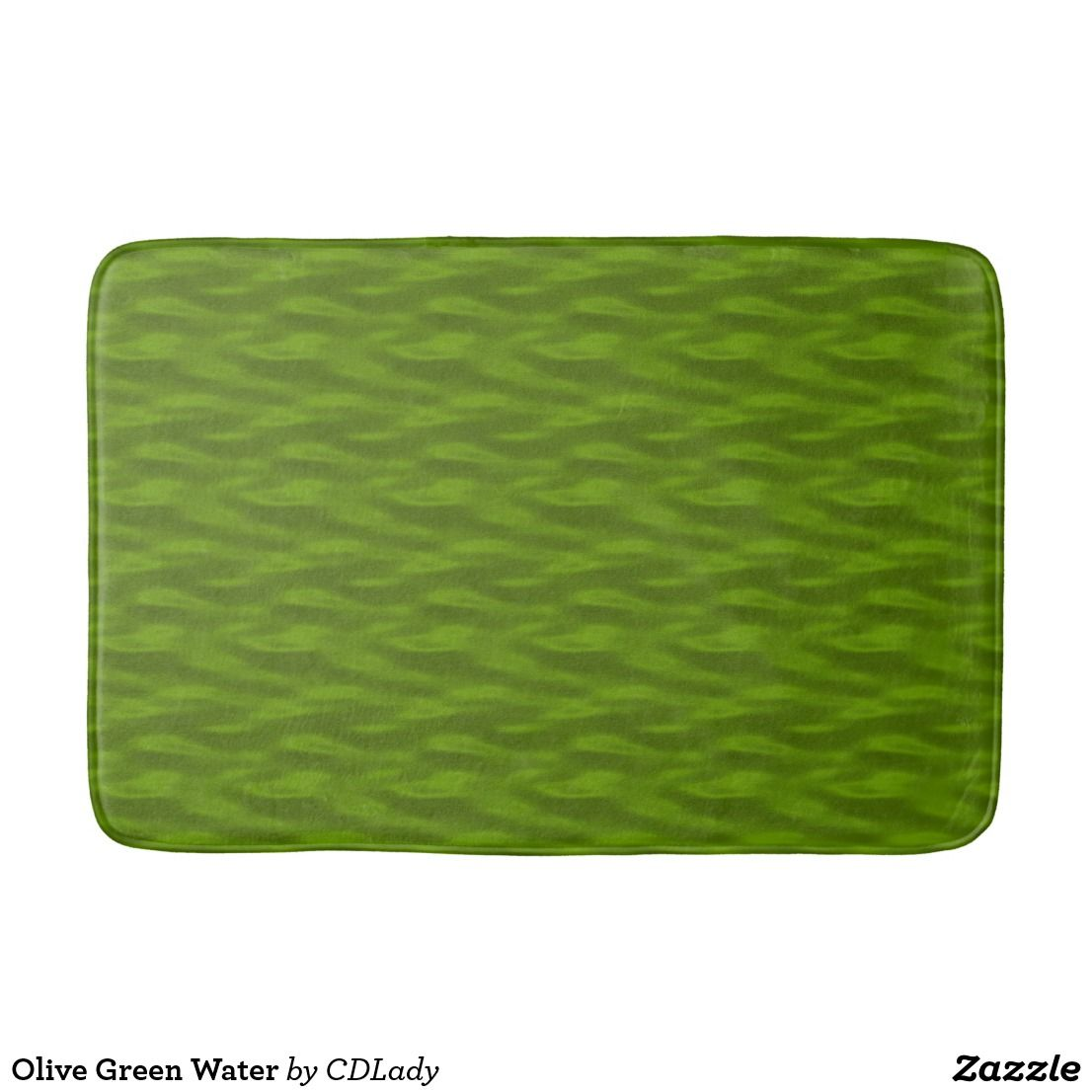 Olive Green Water Bath Mat Zazzle Com Olive Green Green