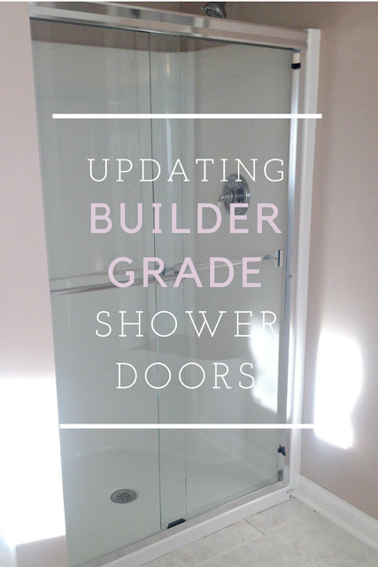 The Delighted Dwelling Updating Builder Grade Shower Doors Shower Doors Builder Grade Shower Remodel