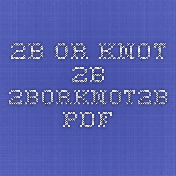 2b Or Knot 2b 2borknot2b Pdf Team Building Activities Team