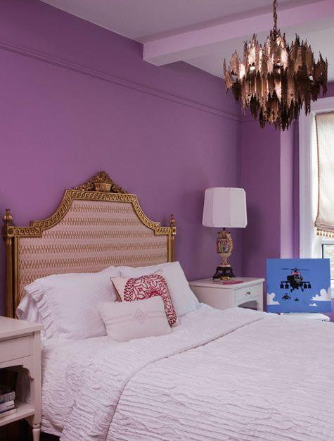 purplewall #wallceilingcombo Walls Pinterest Walls and Lights