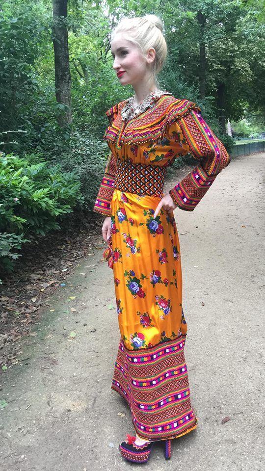 Robe kabyle malika domrane robe kabyle pinterest for Haute kabylie
