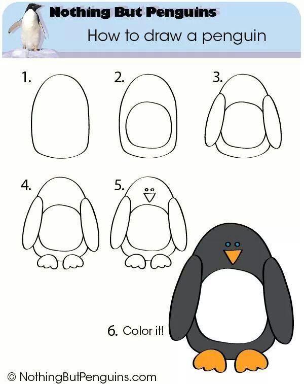 schattige pinguin kleurplaat