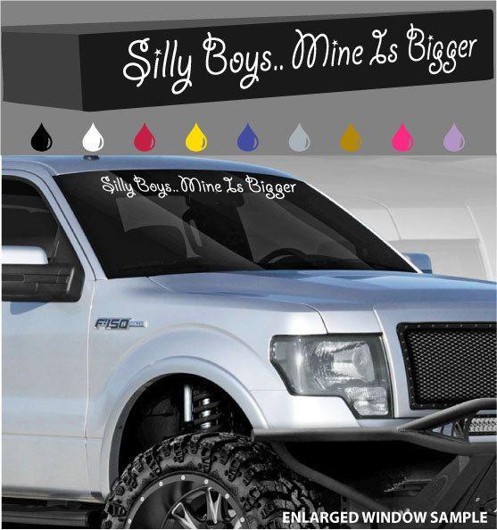 "Ya Girl Is Lookin/' At My Big Truck Windshield//Window Decal Funny Lifted 4x4 40/"""