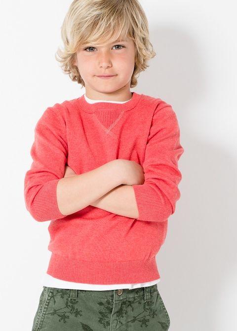 Stitch detail sweater -  Boys | Mango Kids United