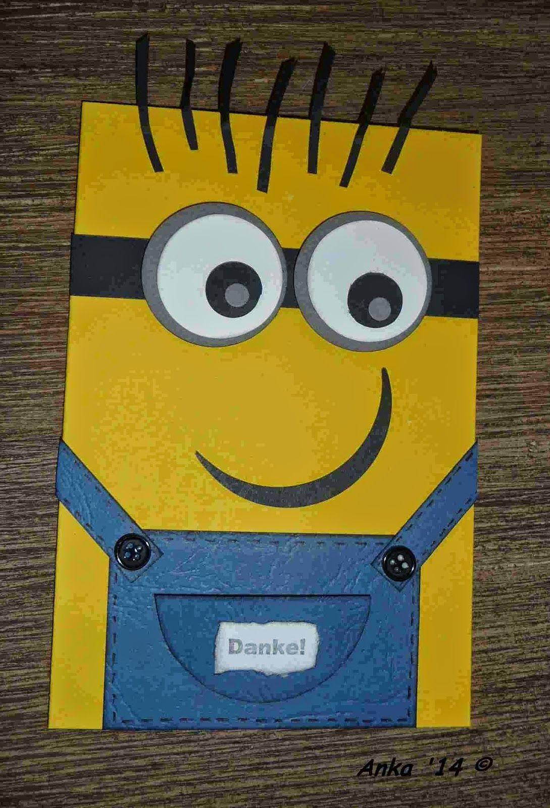 Ankas Bastelseiten: Minions - Karte | Kindergeburtstag | Pinterest ...