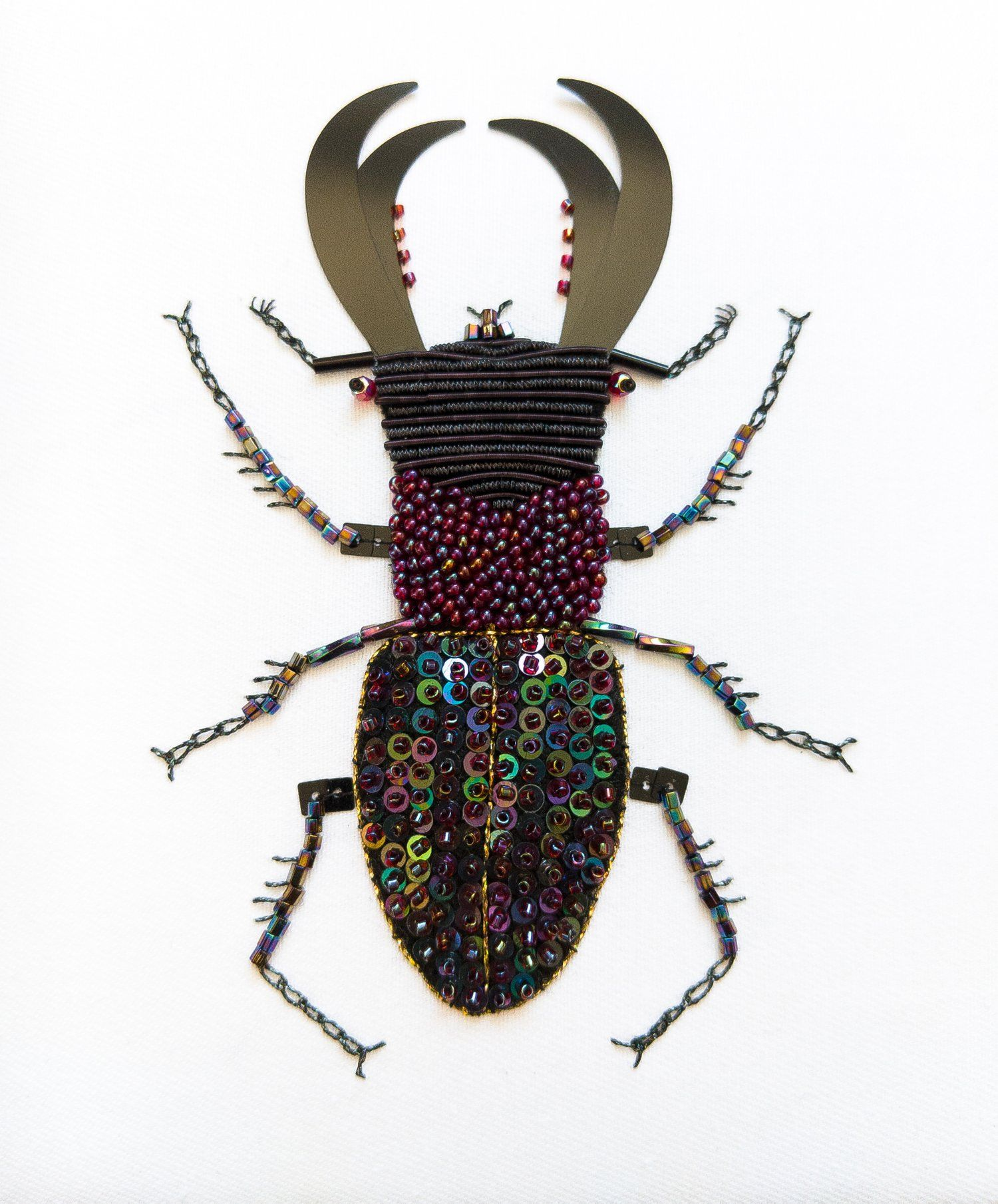 small resolution of stag beetle textile art box mother eagle