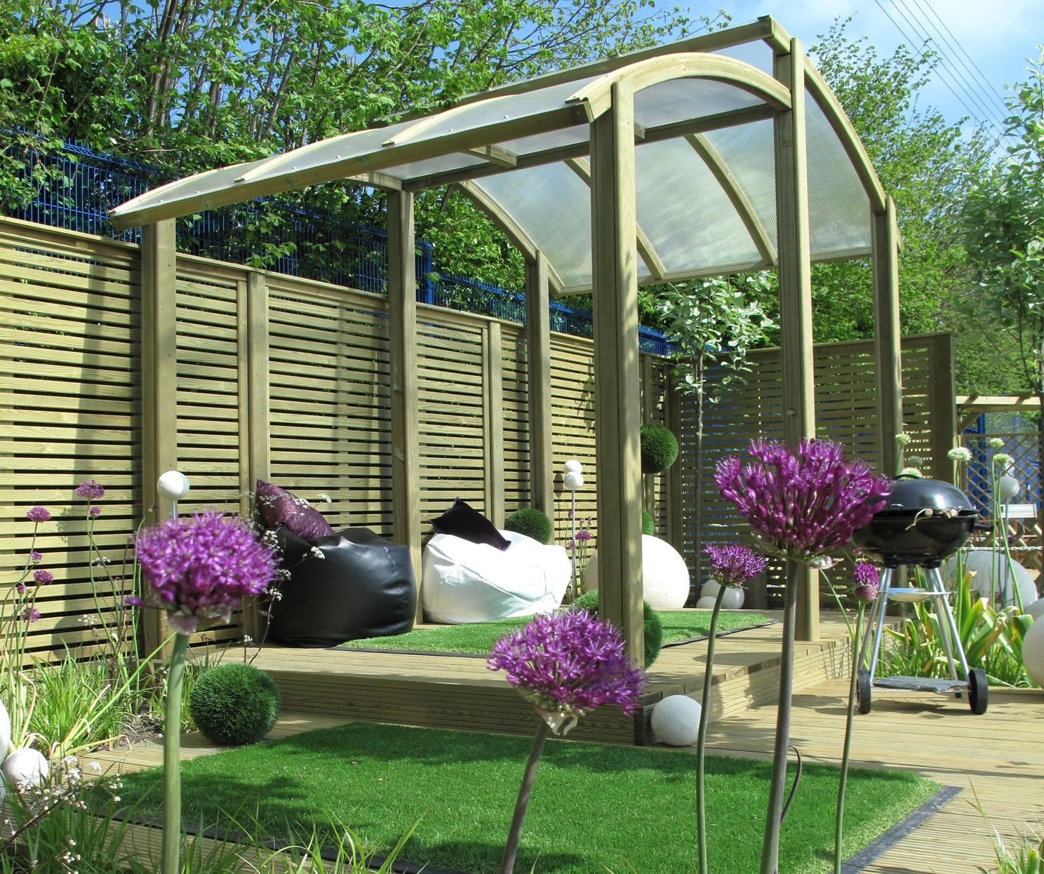 The Zone garden shelter can also be purchased without the panels. It ...