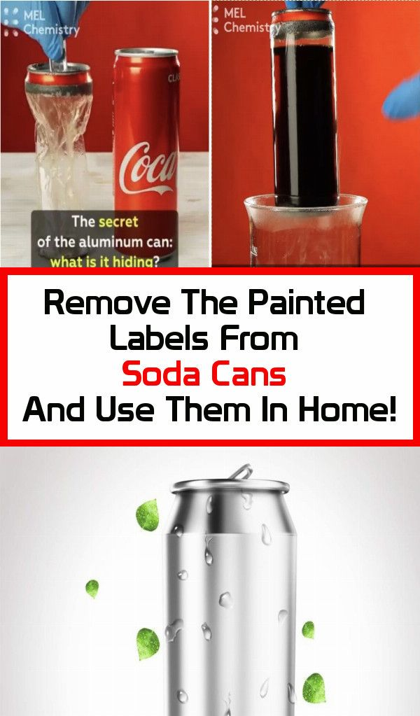 Remove The Painted Labels From Soda Cans And Use Them In Home!!!