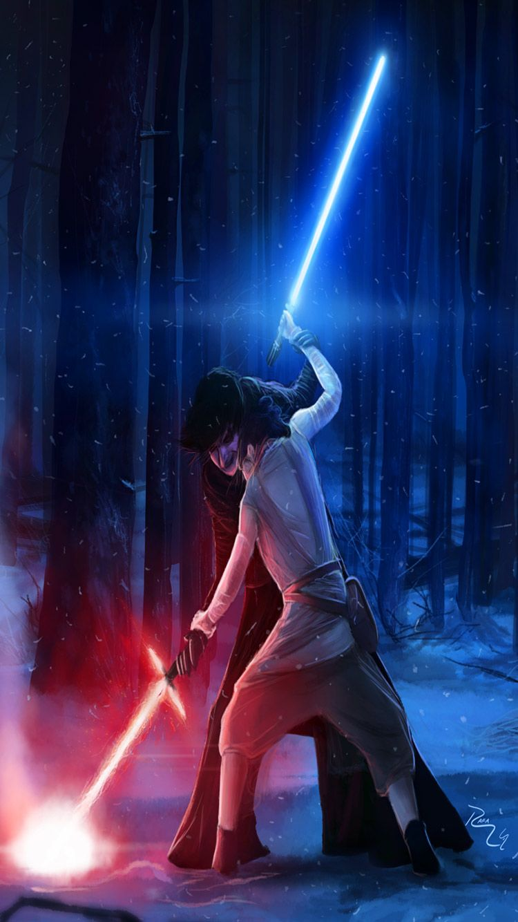 Star Wars Hd Widescreen Wallpapers Star Wars The Force Awakens Kylo Ren Versus Rey Wallpaper Htt Star Wars Wallpaper Cute Tumblr Pictures Star Wars Background