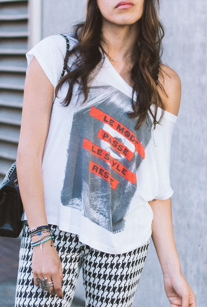houndstooth pants #streetstyle
