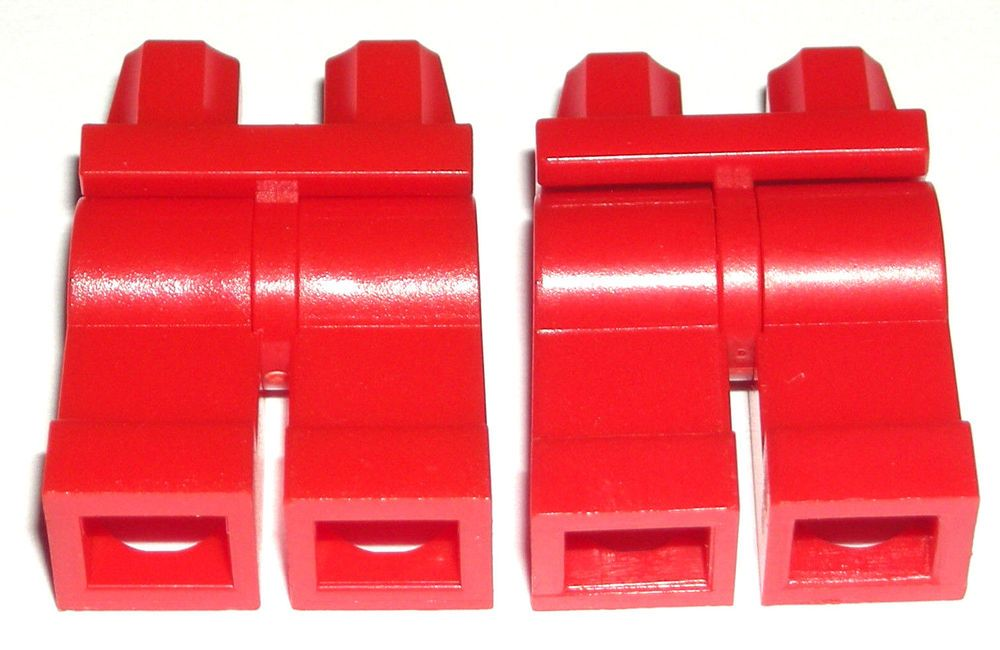 Lego New Black Minifigure Hips Legs with Armor Dark Red Diamonds Belt Pattern