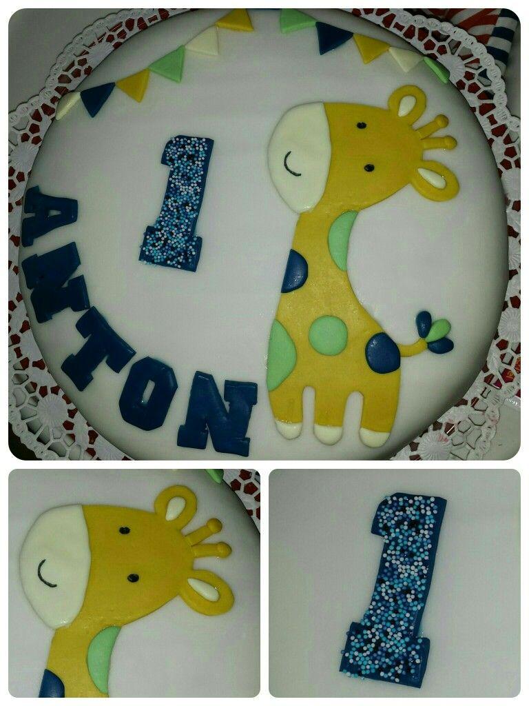 Happy Birthday Torte  1 Geburtstag  Torte Junge  Giraffe  Birthday  Pinterest  Birthday