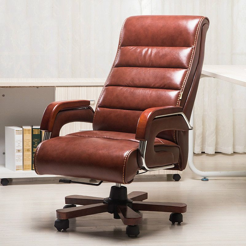 leather computer chair lying massage chair lift household boss