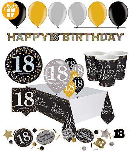 Festefeiern Komplettes Party Set Zum 18 Geburtstag 47 Teile