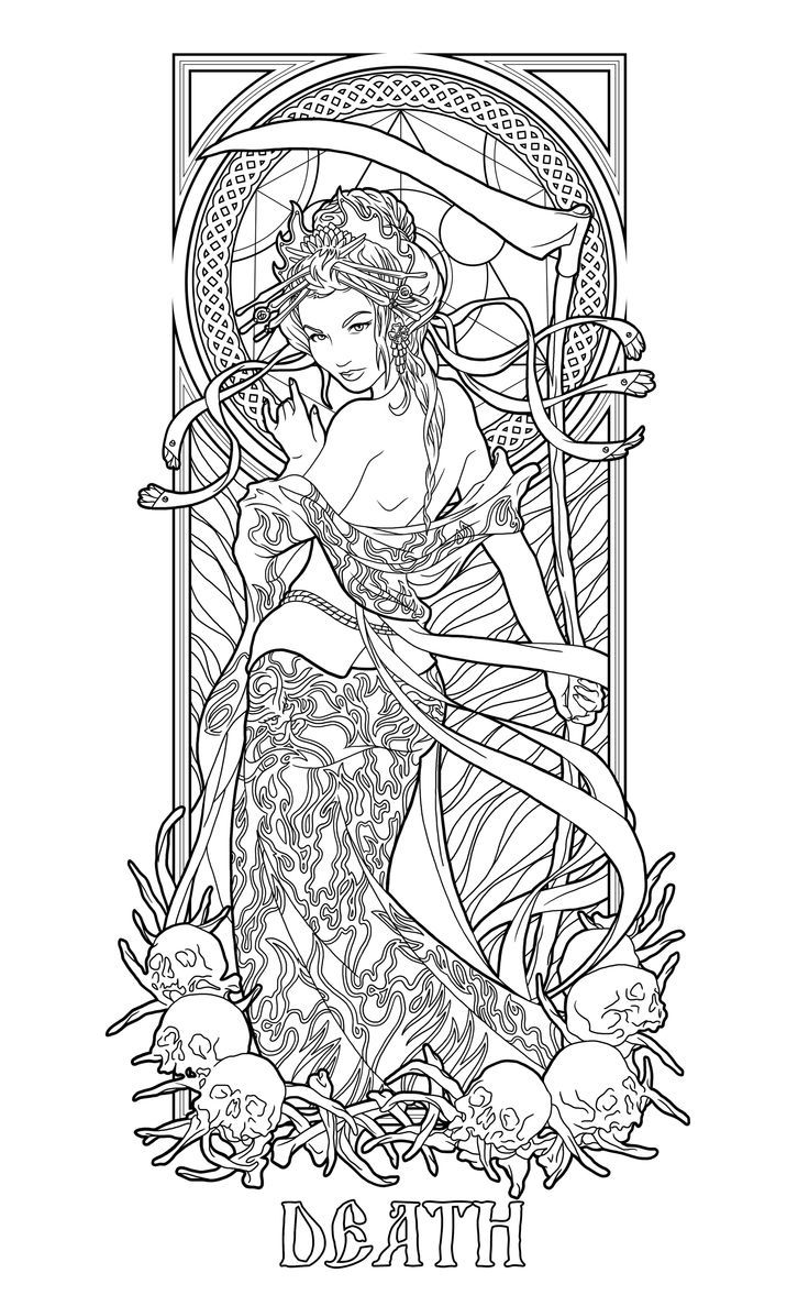 Image Coloriage de Katt D du tableau art  Coloriage mandala