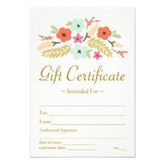 custom printed gift certificates