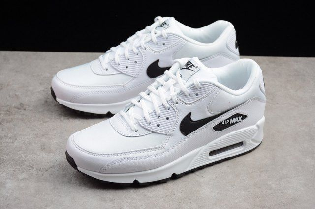 Mens Womens Trainers Nike Air Max 90 White Black 325213 131 ...