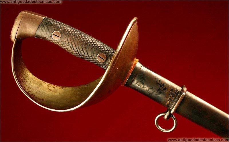 Espada Española de Caballería, modelo Puerto Seguro. Época de Alfonso XIII.