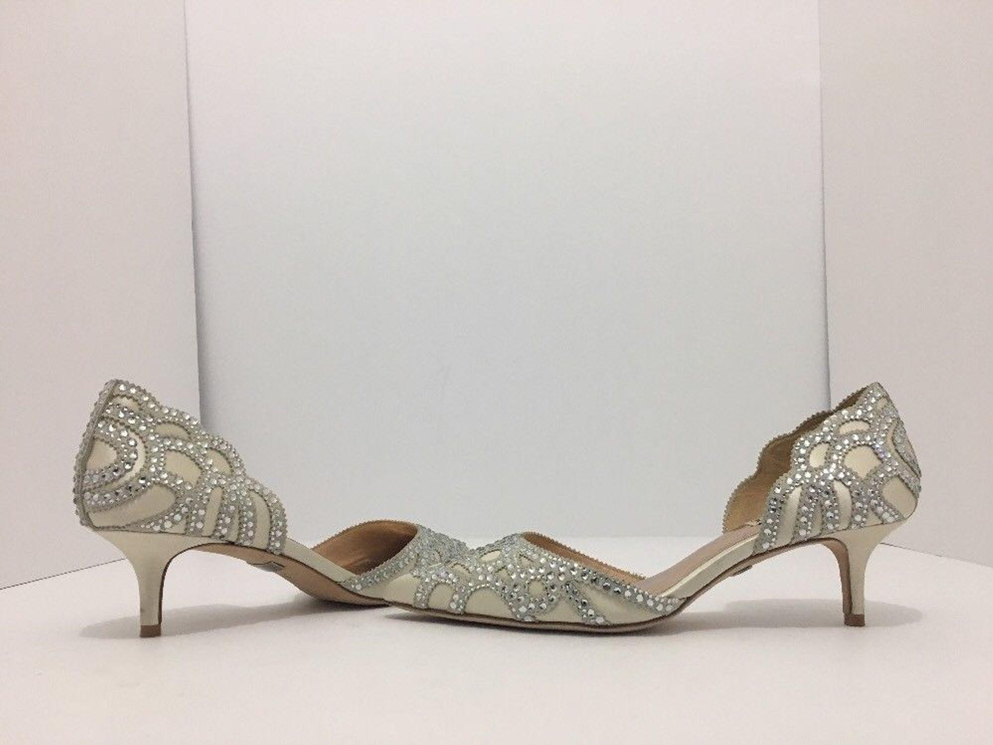 bf40dff4f Badgley Mischka Gaby Ivory Satin Chiffon Women s Dressy Evening Heels  Sandal 6.5  BadgleyMischka  FashionDressyEveningHeels…