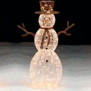 trim a home 50 lighted snowman outdoor christmas decoration at searscom