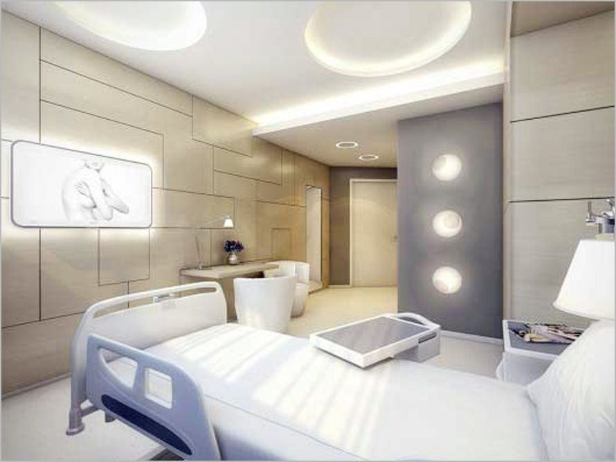 Stylist examine room of medical office interior design for Medical office interior design