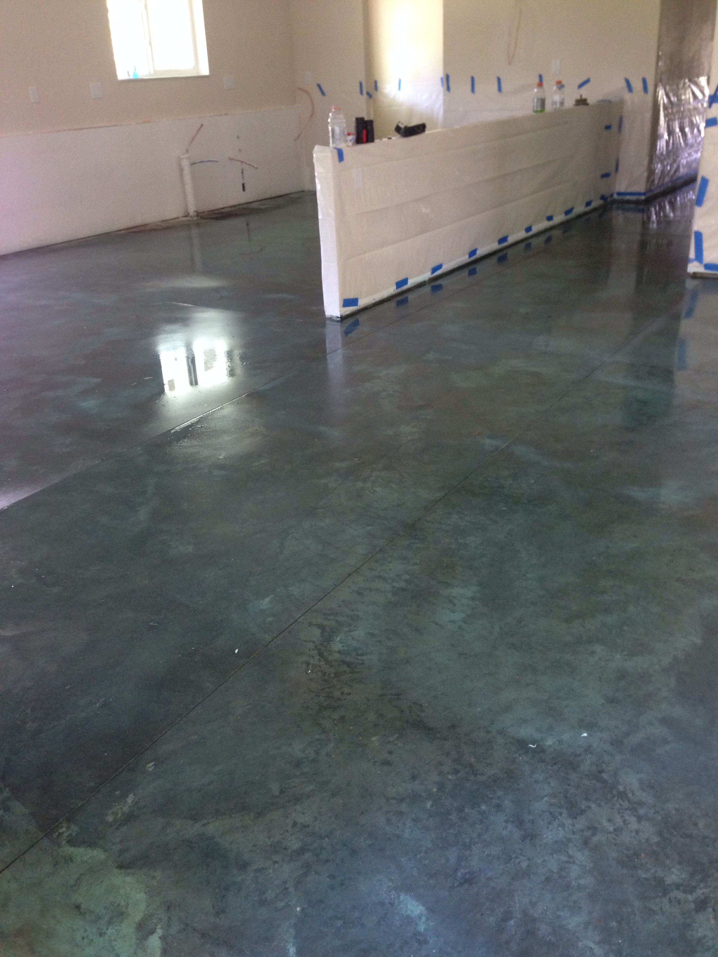 Vermont Slate Stained Concrete Floors Concrete Stained Floors
