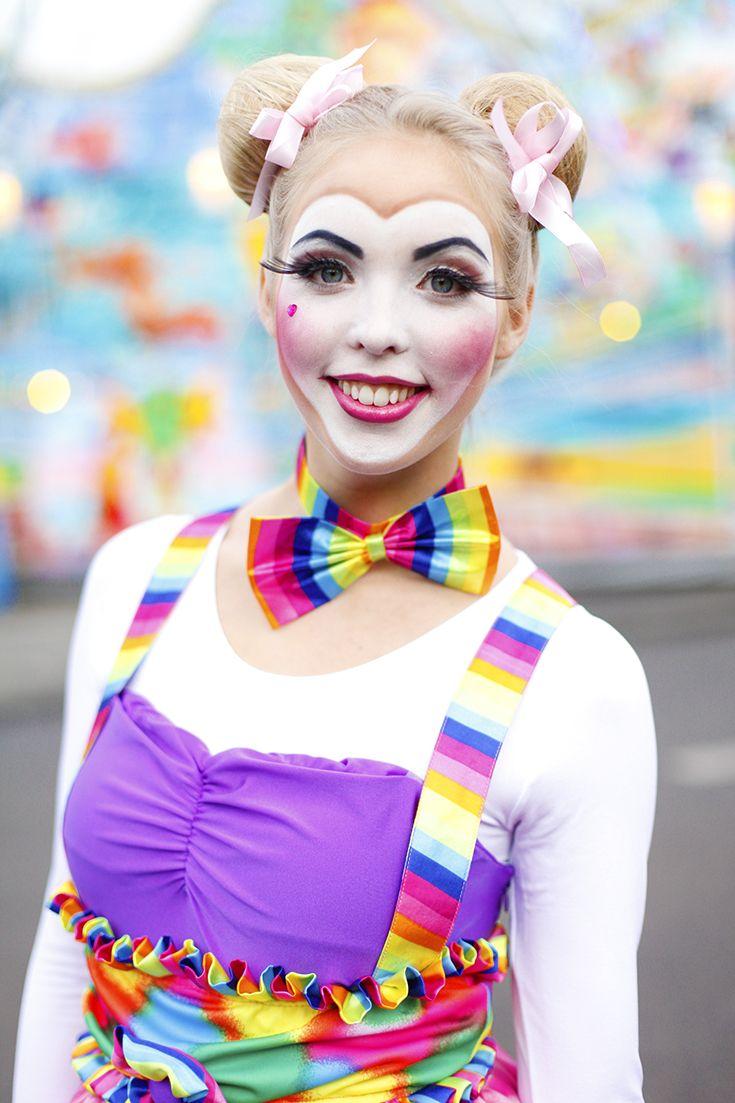Schones Clowns Makeup Clowndame Karneval Fasching Halloween