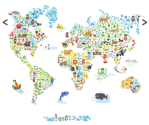 Foreign countries customs cultures people food languages a buy your iconic cultural world map fabric wall decal by pop lolli here the iconic cultural world map fabric wall decal is perfect for adding a bright gumiabroncs Choice Image