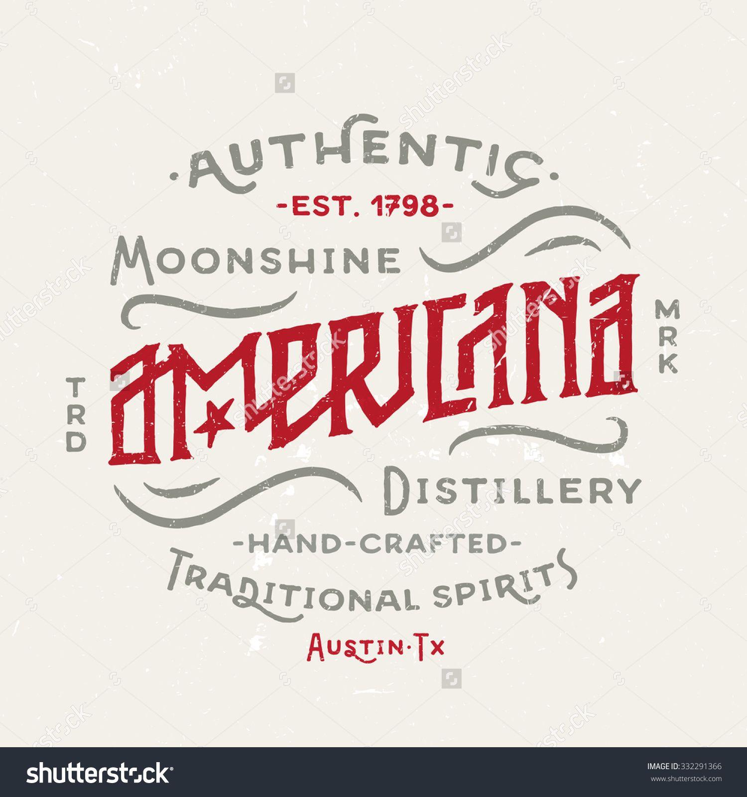 Stock Vector Americana Moonshine Distillery Retro Hand Lettered Design Vintage Style Drawn 332291366 1500x1600